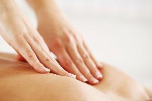 Close-up of a back massage.